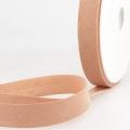 Schrägband hellbraun aus Baumwolle PES 20mm