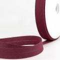 Schrägband bordeaux aus Baumwolle PES 20mm