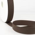 Schrägband dunkelbraun aus Baumwolle PES 20mm