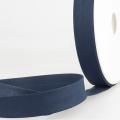 Schrägband marine aus Baumwolle PES 20mm
