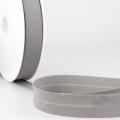 Schrägband grau aus Baumwolle PES 20mm