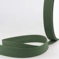 Schrägband dunkelgrün aus Baumwolle PES 20mm