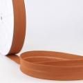 Schrägband rotbraun aus Baumwolle PES 20mm