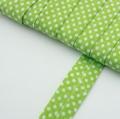 4m Schr�gband mit Punkten hellgr�n Baumwolle