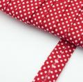4m Schr�gband mit Punkten rot Baumwolle