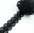 Spitzenreißverschluss schwarz 3mm Meterware