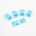 5 Stück Steckschnalle 10 mm gebogen hellblau