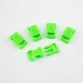 5 Stück Steckschnalle 10 mm gebogen hellgrün