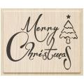 Stempel Merry Christmas 1 - 7 x 5,5 cm