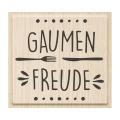 Stempel Gaumenfreude 6 x 5,5 cm