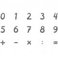 Stempel-Set Zahlen 15 Stk.