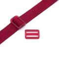Gurtband-Regulierer 25mm dunkelrot transparent