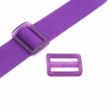Gurtband-Regulierer 40mm lila transparent