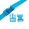 Steckverschluss 25mm blau transparent