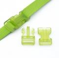 Steckverschluss 25mm grün transparent