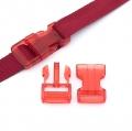 Steckverschluss 25mm rot transparent