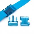 Steckverschluss 40mm blau transparent