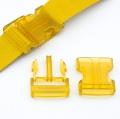 Steckverschluss 40mm gelb transparent