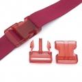 Steckverschluss 40mm rot transparent