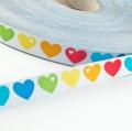 Regenbogen-Herzen, byGraziela 15mm