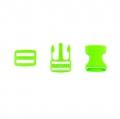 Taschenverschluss mit Regulierer 25mm hellgrün
