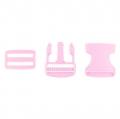 Taschenverschluss mit Regulierer 40mm rosa