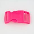 Steckschnalle 25 mm gebogen pink