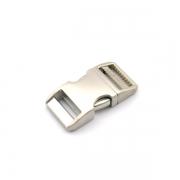 Alu-Max Schnellverschluss 20mm silber satiniert verstellbar