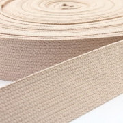 Baumwoll-Gurtband creme 30mm