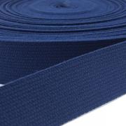 Baumwoll-Gurtband dunkelblau 30mm