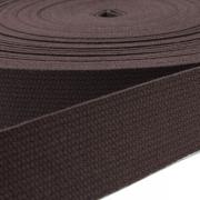 Baumwoll-Gurtband dunkelbraun 30mm