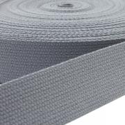 Baumwoll-Gurtband grau 30mm