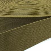 Baumwoll-Gurtband oliv 30mm