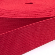Baumwoll-Gurtband rot 30mm