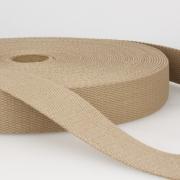 Gurtband Baumwolle beige 30mm