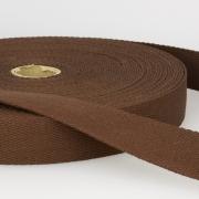 Gurtband Baumwolle dunkelbraun 40mm