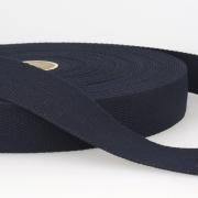 Gurtband Baumwolle nachtblau 40mm