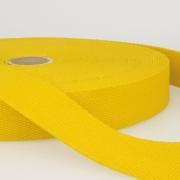 Gurtband Baumwolle gelb 40mm