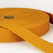 Gurtband Baumwolle goldgelb 30mm