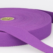 Gurtband Baumwolle lila 40mm