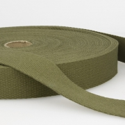 Gurtband Baumwolle oliv 30mm