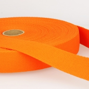 Gurtband Baumwolle orange 40mm