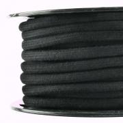 Baumwollkordel 7mm Meterware schwarz