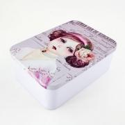 Blechdose groß 11 x 16 cm rosa