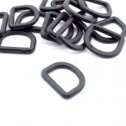 10 Kunststoff D-Ringe 25mm x 19mm