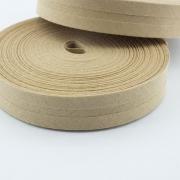 Schrägband beige aus Baumwolle 20mm