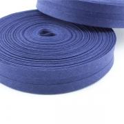 Schrägband dunkelblau aus Baumwolle 20mm