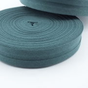 Schrägband dunkelgrün aus Baumwolle 20mm