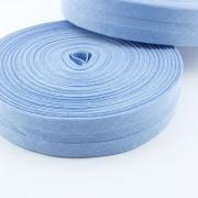 Schrägband hellblau aus Baumwolle 20mm