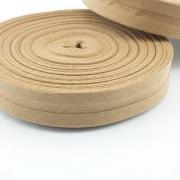 Schrägband karamel aus Baumwolle 20mm